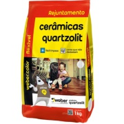 Imagem de Rejunte Flexível Weber Preto Grafite Saco/1kg - Quartzolit