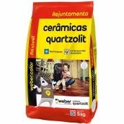 Imagem de Rejunte Flexível Weber Cinza Platina Saco/5kg - Quartzolit