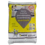 Rejunte Porcelanato Weber Branco Saco/5kg - Quartzolit