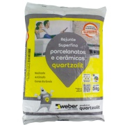 Rejunte Porcelanato Weber Cinza Platina Saco/5kg - Quartzolit