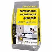 Rejunte Porcelanato Weber Palha Saco/5kg - Quartzolit