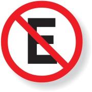 """Placa de Poliestireno """"Proibido Estacionar """" 45cm x 45cm Branco - Sinalize"""