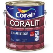Tinta Esmalte Sintético Acetinado Premium 3,6L - Branco Neve - Coralit Coral