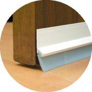 Imagem de Veda Porta Adesivo Friso De PVC 90 cm Branco - Stamaco