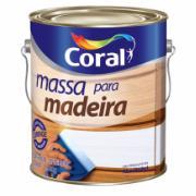 Imagem de Massa Para Madeira - Branco Neve - Galão 3,6L 6Kg - Coral