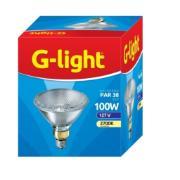 Lâmpada Halógena Par38 100W Transparente Amarela E27 127V - Glight