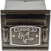Imagem de Porta-cartas Alumínio 15x17 cm Depop Bronze - Prates e Barbosa