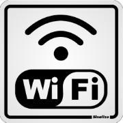 """Placa de PVC """"Internet Wi Fi """" 20cm x 15cm Branco - Sinalize"""