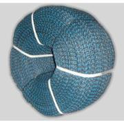 Corda Multiuso de Poliéster 8,0mm x 10,0m Azul e preto - Cordas Erval