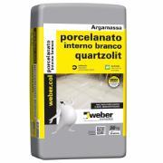 Argamassa Porcelanato Interno Branca 20kg - Quartzolit