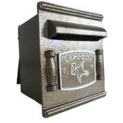Imagem de Porta-cartas Alumínio 20x19 cm Repop Bronze - Prates e Barbosa