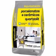 Imagem de Rejunte Porcelanato Weber Cinza Platina Saco 1kg - Quartzolit