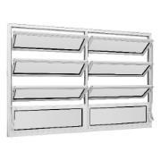 Janela de Abrir Basculante de Alumínio Vidro Mini Boreal 100x120 cm Branco - Encomenda Ebel