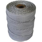 Corda para Amarração de Polipropileno 2,5mm x 286,0m Branco e preto - Cordaville