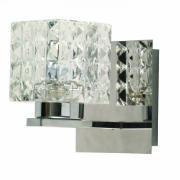 Arandela de Vidro e Metal Quadrada HU2149W - Bella Iluminação