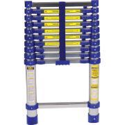 Escada Telescópica em Alumínio 3,12m 10 Degraus Prata 150kg - Mor
