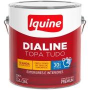 Tinta Esmalte Sintético Acetinado Premium 3,6L - Branco Gelo - Dialine Base Água Iquine