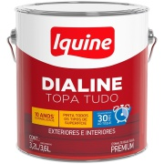 Imagem de Tinta Esmalte Sintético Acetinado Premium 3,6L - Branco Gelo - Dialine Base Água Iquine
