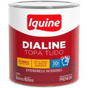 Tinta Esmalte Sintético Acetinado Premium 0,9L - Branco Neve - Dialine Base Água Iquine