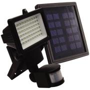 Refletor LED Retangular Solar 60 LEDs com Sensor - Ecoforce