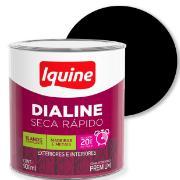 Tinta Esmalte Sintético Fosco Premium 0,9L - Preto - Dialine Iquine