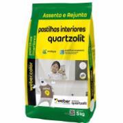 Argamassa Pastilha Interior Branco 5kg - Quartzolit