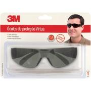 Imagem de Óculos Proteção Polipropileno Virtua Preto 6438 - 3M