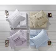Imagem de Cobre Leito Solteiro com Porta Travesseiro Liso Branco 0001 - Santista