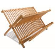 Escorredor de Louças de Bambu 12 Pratos Marrom Claro - Yoi