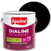 Tinta Esmalte Sintético Fosco Premium 3,6L - Preto - Dialine Iquine