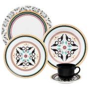 Imagem de Aparelho de Jantar de Cerâmica 20 Peças Floreal Luiza Branco - Oxford