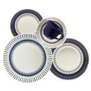 Aparelho de Jantar de Cerâmica 20 Peças Azul escuro N613-1645 - Oxford