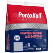 Imagem de Rejunte L-Flex Cinza Platina Saco/4kg - PortoKoll