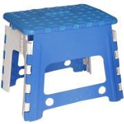 Banquinho de Plástico Dobrável 29cm Azul - Antares