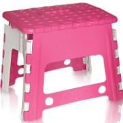 Imagem de Banquinho de Plástico Dobrável 29cm Rosa - Antares