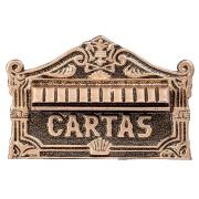 Imagem de Porta-cartas Alumínio Galvanizado 22x15,5 cm Dourada - LGMais
