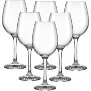 Jogo de Taças para Vinho de Vidro 6 peças 385ml Transparente - Barone Nadir