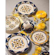 Imagem de Aparelho de Jantar de Cerâmica 20 Peças Floreal São Luís Azul Escuro - Oxford