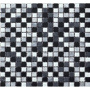 Pastilha de Vidro Brilhante 1,5x1,5cm Preto - ML004BC - Jolie
