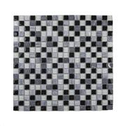 Imagem de Pastilha de Vidro Brilhante 1,5x1,5cm Preto - ML004BC - Jolie