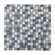 Pastilha de Vidro Brilhante 1,5x1,5cm Branco - ML006BC - Jolie