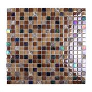 Pastilha de Vidro Brilhante 1,5x1,5cm Tan - ML011BC - Jolie