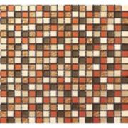 Pastilha de Vidro Brilhante 1,5x1,5cm Laranja - ML012BC - Jolie