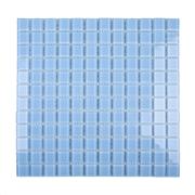 Pastilha de Vidro Brilhante 2,3x2,3cm Azul Claro - 4ML032-CA - Jolie