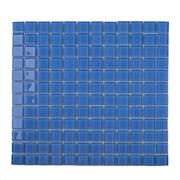 Pastilha de Vidro Brilhante 2,3x2,3cm Azul - 4ML033-CA - Jolie