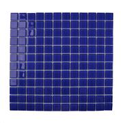 Pastilha de Vidro Brilhante 2,3x2,3cm Azul Escuro - 4ML034-CA - Jolie