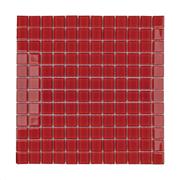 Pastilha de Vidro Brilhante 2,3x2,3cm Vermelho - 4ML035-CA - Jolie