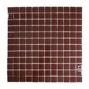 Pastilha de Vidro Brilhante 2,3x2,3cm Marrom Escuro - 4ML036-CA - Jolie