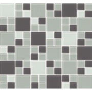 Pastilha de Vidro Brilhante 2,3x2,3cm Cinza - 4ML003-CC - Jolie