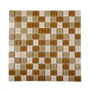 Pastilha de Vidro Brilhante 2,3x2,3cm Tan - 4ML008-CA - Jolie